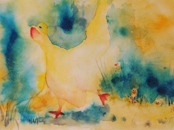 Мастер-класс по интуитивной живописи акварелью. Творим с детьми   Ярмарка Мастеров - ручная работа, handmade