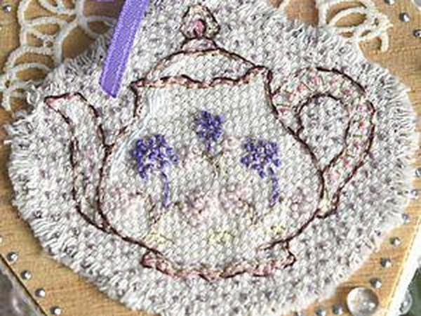 Декорируем деревянную шкатулку. Часть 1: вышиваем чайник свободной техникой | Ярмарка Мастеров - ручная работа, handmade