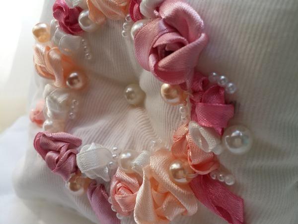 Изготовление свадебной подушечки для колец | Ярмарка Мастеров - ручная работа, handmade