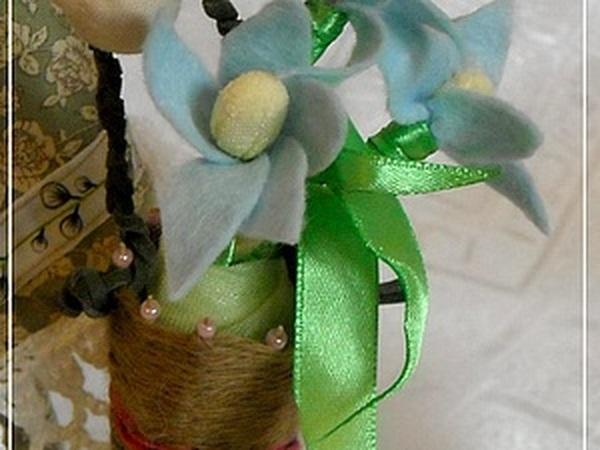 Делаем корзиночку и подснежники для куклы Апрельки-Капельки | Ярмарка Мастеров - ручная работа, handmade