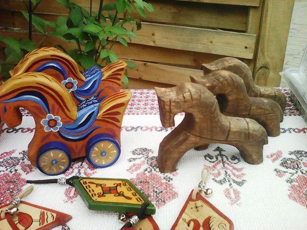 Деревянные народные игрушки | Ярмарка Мастеров - ручная работа, handmade