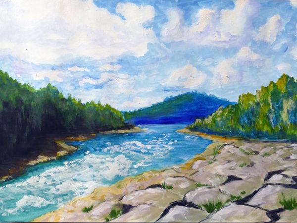 Рисуем гуашью летний пейзаж | Ярмарка Мастеров - ручная работа, handmade