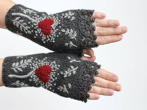 Согреваем руки красиво   Ярмарка Мастеров - ручная работа, handmade