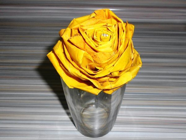 Собираем розу из кленовых листьев   Ярмарка Мастеров - ручная работа, handmade