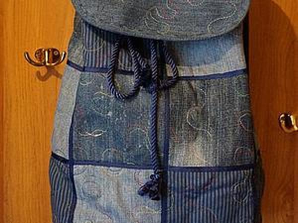f32537627812 Шьем новый рюкзак из старых джинсов | Ярмарка Мастеров - ручная работа,  handmade
