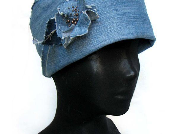 Мастерим джинсовую шляпку-ретро за два часа | Ярмарка Мастеров - ручная работа, handmade