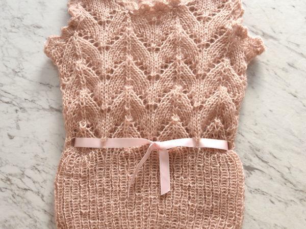 Вяжем очаровательную жилетку для малышки «Розовая зефирка» | Ярмарка Мастеров - ручная работа, handmade