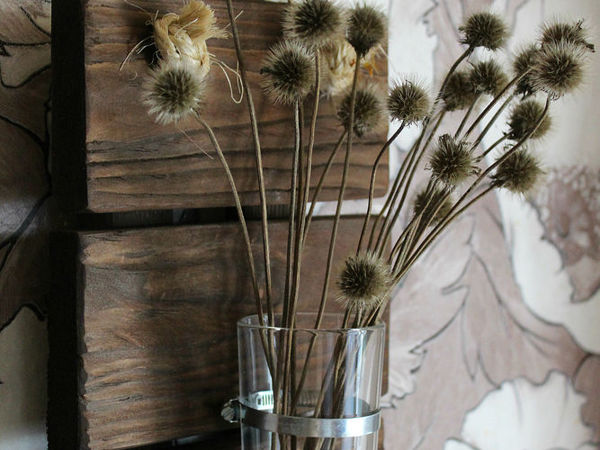 Панно-ваза в лофт стиле  «Bokeh» | Ярмарка Мастеров - ручная работа, handmade