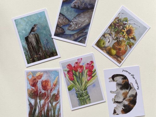 У меня появились авторские открыточки | Ярмарка Мастеров - ручная работа, handmade