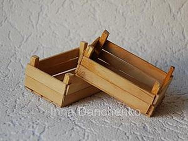 Мастерим миниатюрные деревянные ящики для сбора урожая | Ярмарка Мастеров - ручная работа, handmade