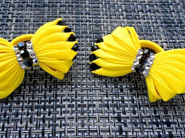 Видео мастер-класс Канзаши: летние бантики для волос из лент | Ярмарка Мастеров - ручная работа, handmade