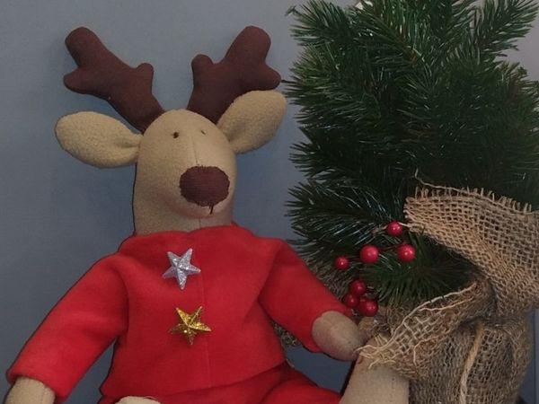 Шьем новогоднего оленя | Ярмарка Мастеров - ручная работа, handmade