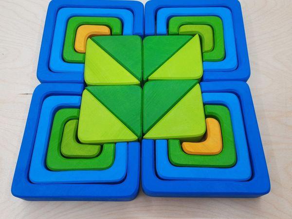 Фото вариантов игры  «Квадрат»  Мозаика Пазл из дерева | Ярмарка Мастеров - ручная работа, handmade