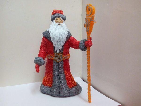 Создаем 3D-ручкой объёмного Деда Мороза. Часть 1 | Ярмарка Мастеров - ручная работа, handmade