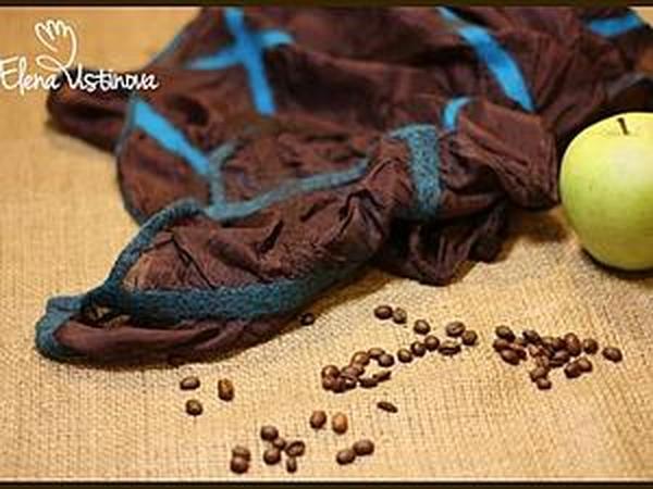 Создаем красивый палантин из шелка и префельта в технике мокрого валяния | Ярмарка Мастеров - ручная работа, handmade