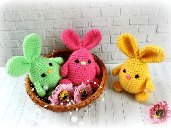 Вяжем милых пасхальных кроликов: видеоурок | Ярмарка Мастеров - ручная работа, handmade