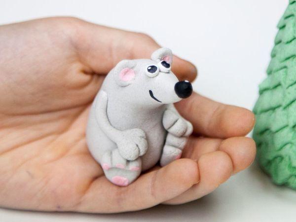 Лепим Крысенка из соленого теста   Ярмарка Мастеров - ручная работа, handmade