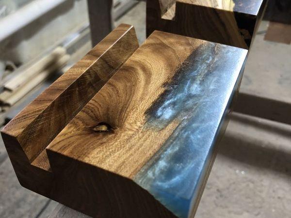 Создаем подставку под визитки или телефон. Дерево и смола | Ярмарка Мастеров - ручная работа, handmade