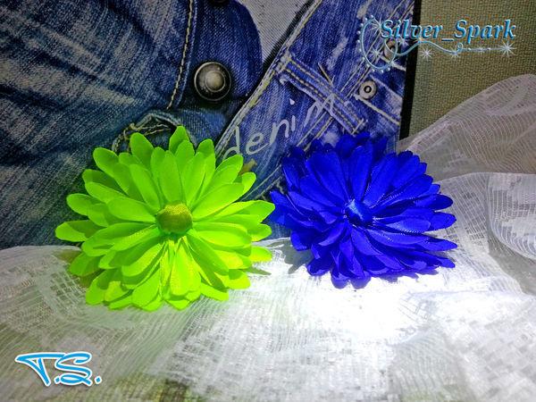 Видео мастер-класс :цветок из атласной ленты | Ярмарка Мастеров - ручная работа, handmade