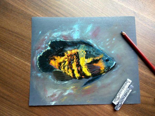 Мастер класс рисуем рыбку или сову на наждачке | Ярмарка Мастеров - ручная работа, handmade