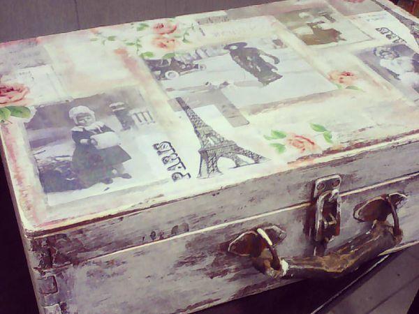 МК по декупажу чемодана 13.10.16   Ярмарка Мастеров - ручная работа, handmade