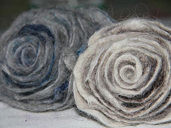 Мастер-класс: валяный цветок | Ярмарка Мастеров - ручная работа, handmade