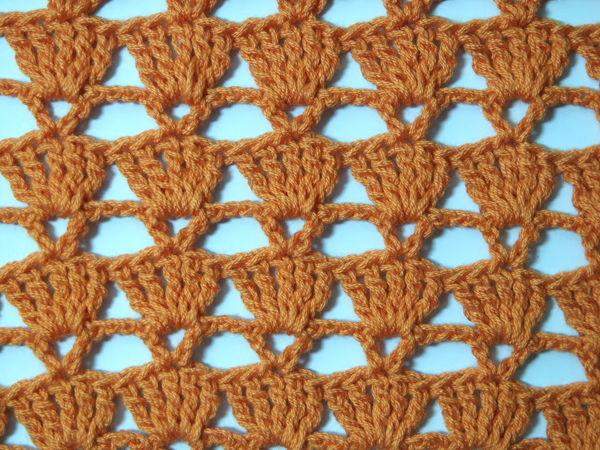 Вяжем простой ажурный узор крючком | Ярмарка Мастеров - ручная работа, handmade