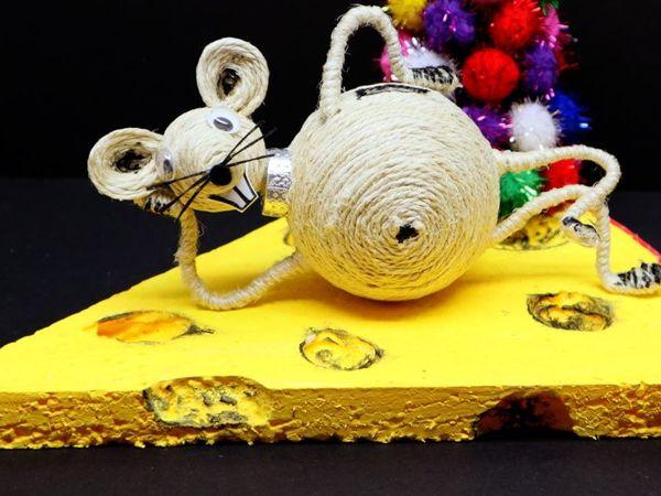 Мастерим залипательный символ 2020 года из джута   Ярмарка Мастеров - ручная работа, handmade