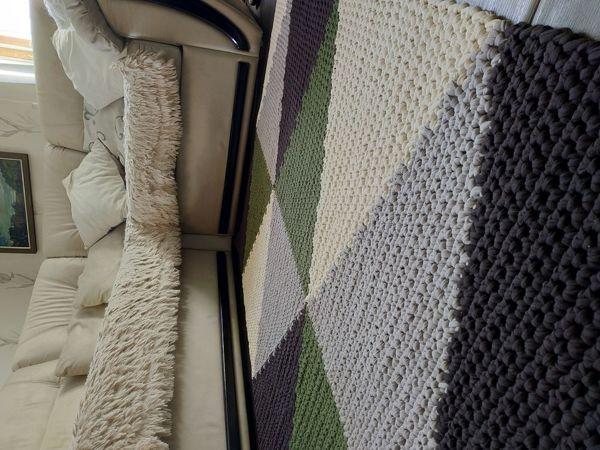 Мой первый ковёр из трикотажной пряжи | Ярмарка Мастеров - ручная работа, handmade