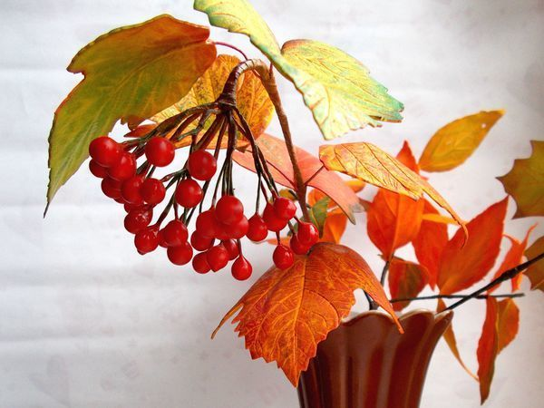 Видео мастер-класс: делаем листья калины из фоамирана | Ярмарка Мастеров - ручная работа, handmade