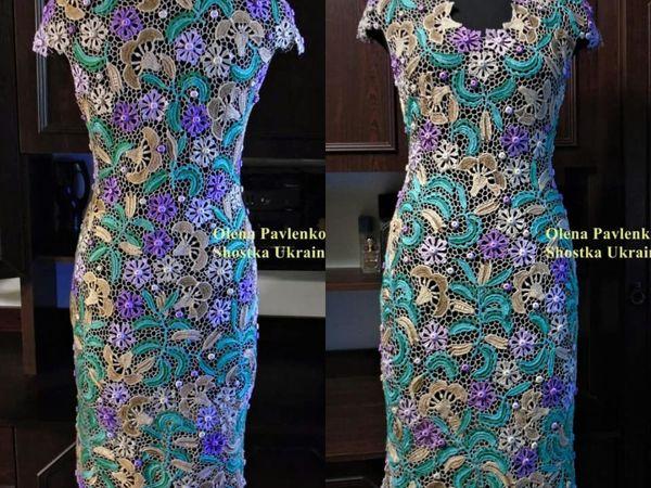 Платье Мятный вкус ирландским кружевом | Ярмарка Мастеров - ручная работа, handmade