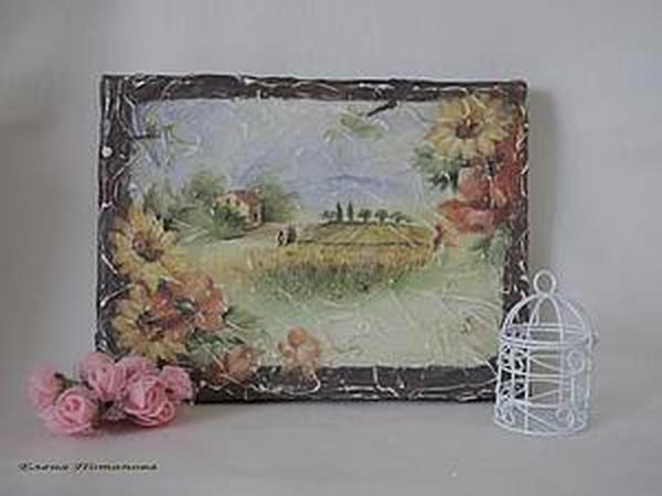 Имитируем фреску: создаем панно на холсте   Ярмарка Мастеров - ручная работа, handmade