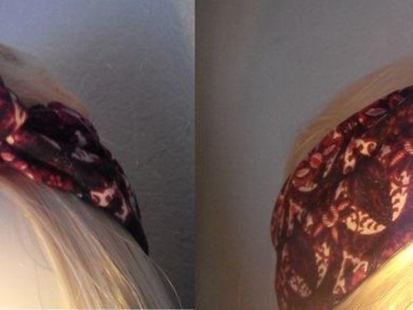 Повязка  «Узелок» на голову/ Видео мастер-класс   Ярмарка Мастеров - ручная работа, handmade