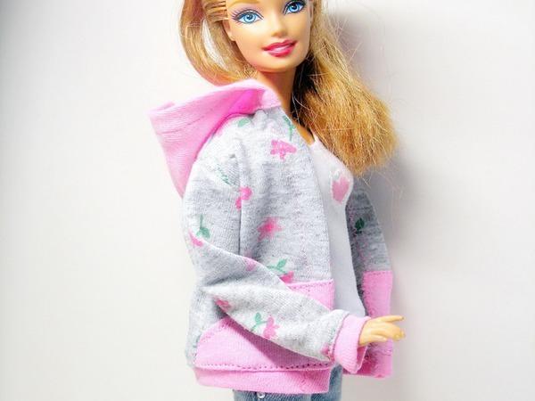 Как сшить толстовку с капюшоном для куклы Барби | Ярмарка Мастеров - ручная работа, handmade