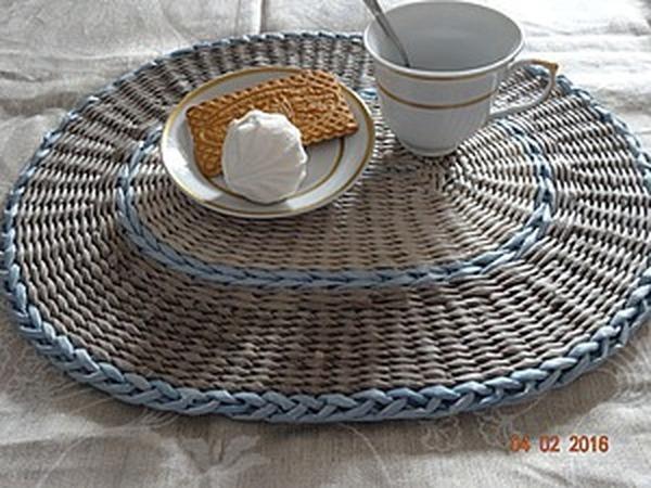 Мастер-класс: плетение сервировочных ковриков из бумажных трубочек | Ярмарка Мастеров - ручная работа, handmade