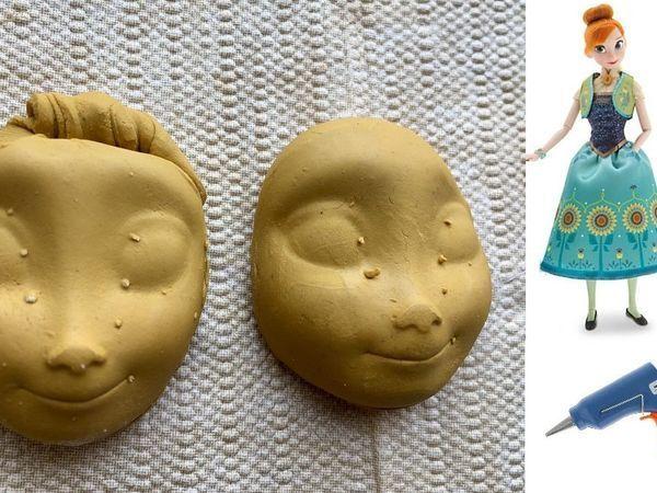 Лепим лицо с помощью куклы и клея | Ярмарка Мастеров - ручная работа, handmade