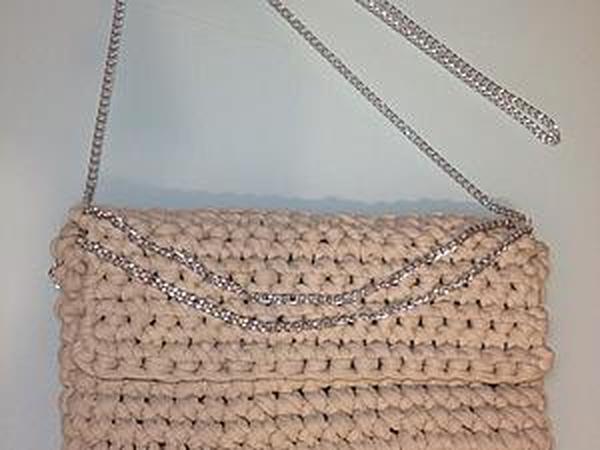 352da2e8a87e Видео мастер-класс по вязанию клатча/сумочки крючком | Ярмарка Мастеров -  ручная работа