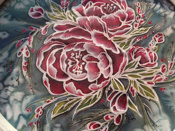 Рисуем по ткани в технике холодный батик с доработкой контурами   Ярмарка Мастеров - ручная работа, handmade