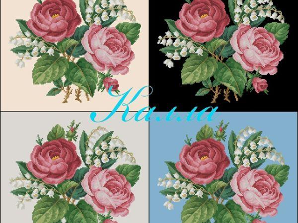 Схема с розами и ландышами   Ярмарка Мастеров - ручная работа, handmade