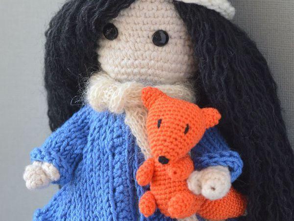Вяжем маленького рыжего лисенка-друга для куколки | Ярмарка Мастеров - ручная работа, handmade