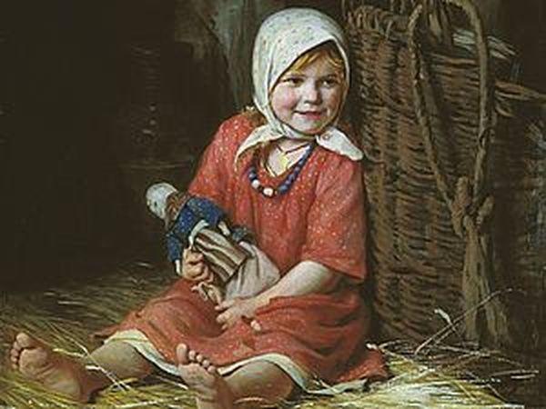 Дети и куклы в русской живописи | Ярмарка Мастеров - ручная работа, handmade