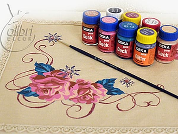 Роспись новогодней салфетки «Роза» | Ярмарка Мастеров - ручная работа, handmade