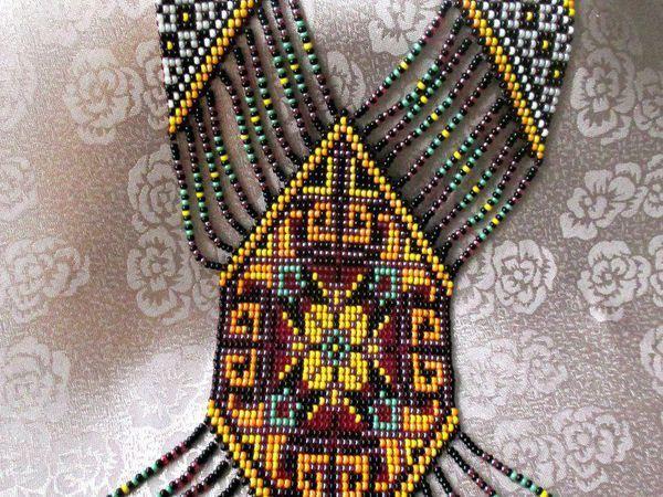 Бисерное ткачество: создаем красочный гердан   Ярмарка Мастеров - ручная работа, handmade