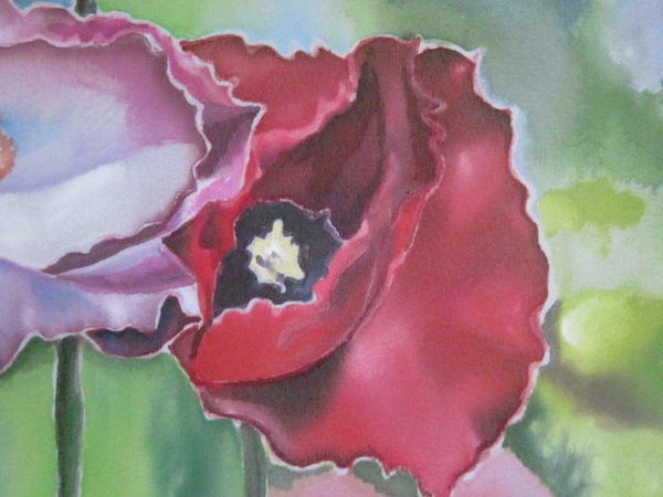 Картина в технике холодный батик и свободной росписи | Ярмарка Мастеров - ручная работа, handmade