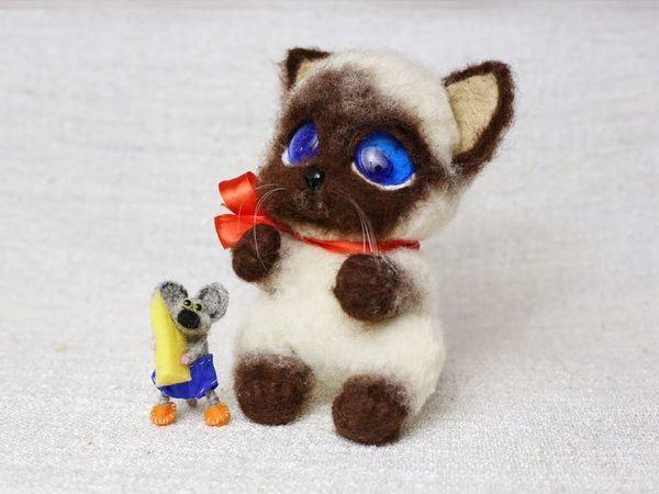 Котенок Гав и мышонок Пиф | Ярмарка Мастеров - ручная работа, handmade