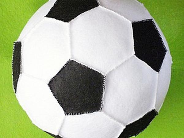 Шьём футбольный мяч из фетра | Ярмарка Мастеров - ручная работа, handmade