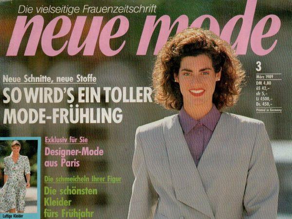 Neue mode 3 1989 (март) | Ярмарка Мастеров - ручная работа, handmade