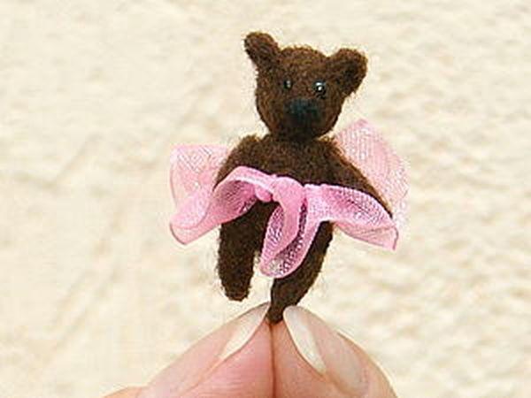 Валяем мишку-малышку! | Ярмарка Мастеров - ручная работа, handmade