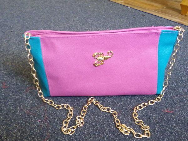 cd62a2259 Шьем кожаную сумочку-клатч «Розовая фантазия»   Ярмарка Мастеров - ручная  работа,