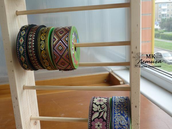Мастерим простую полку для хранения кружев и тесьмы | Ярмарка Мастеров - ручная работа, handmade